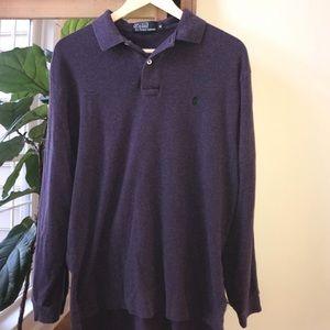 Polo by Ralph Lauren Purple Long Sleeve Polo